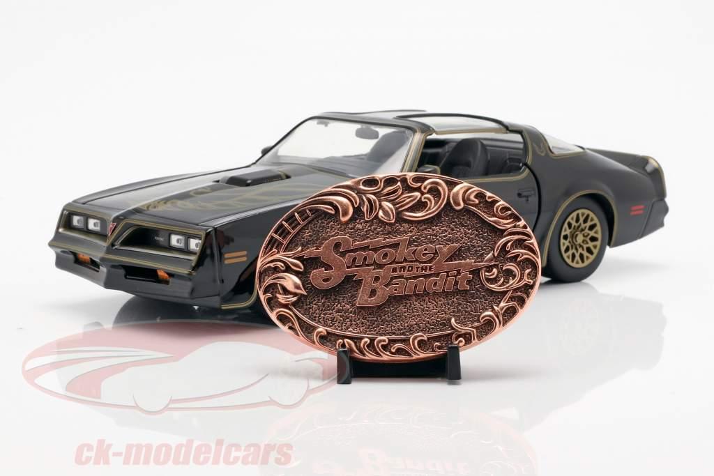 Pontiac Firebird 1977 film Smokey and the Bandit (1977) zwart 1:24 Jada Toys