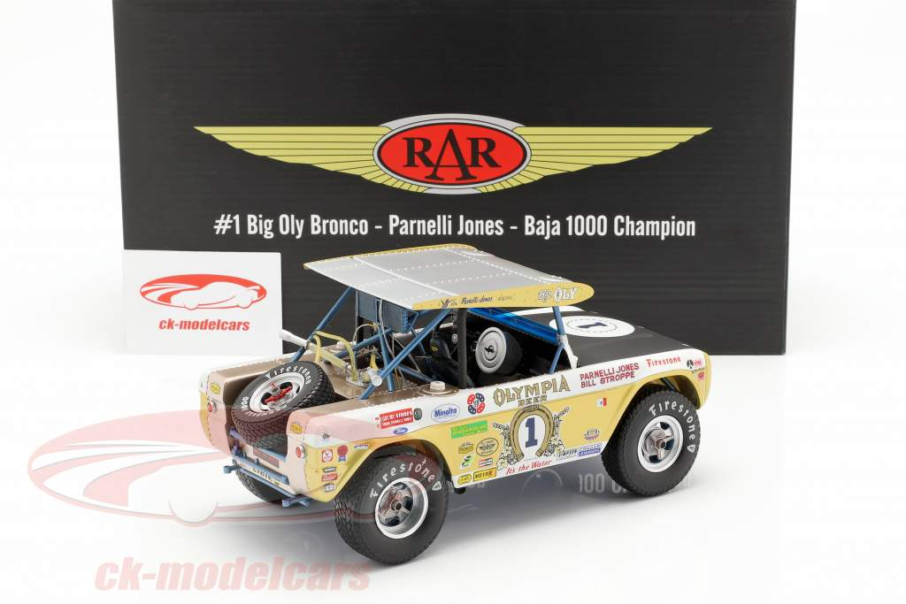 Ford Bronco Big Oly #1 Baja 1000 champion 1971 Jones, Stroppe 1:18 GMP
