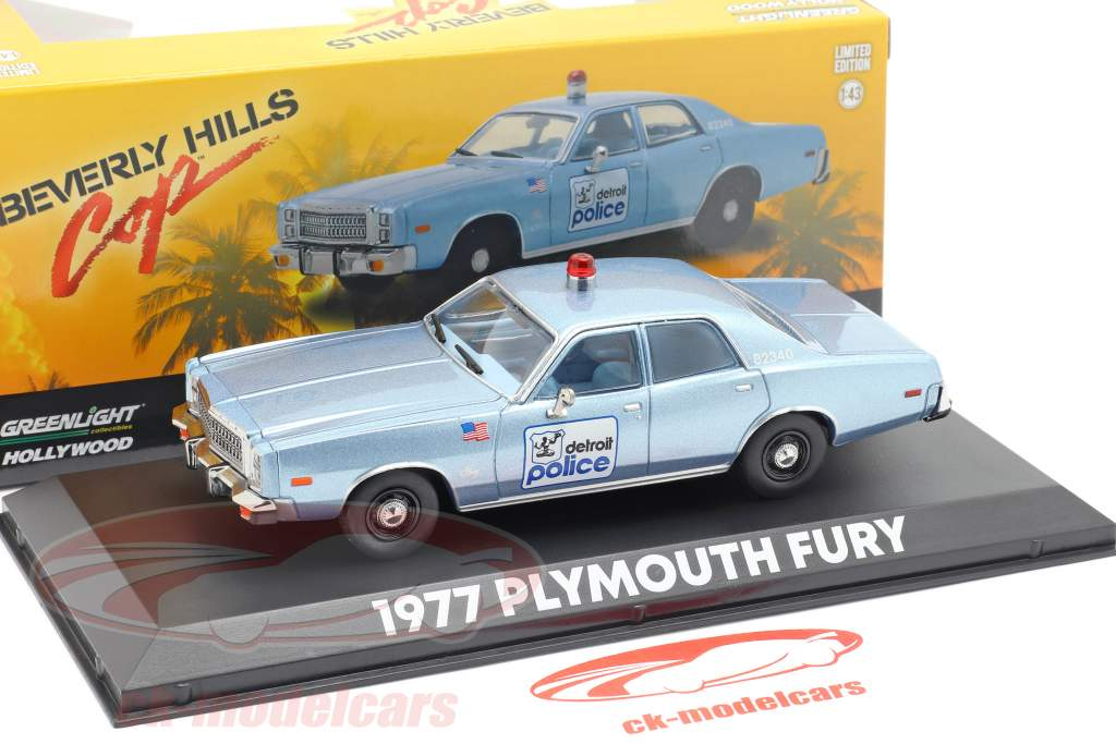 Plymouth Fury Detroit Police 1977 film Beverly Hills Cop (1984) 1:43 Greenlight