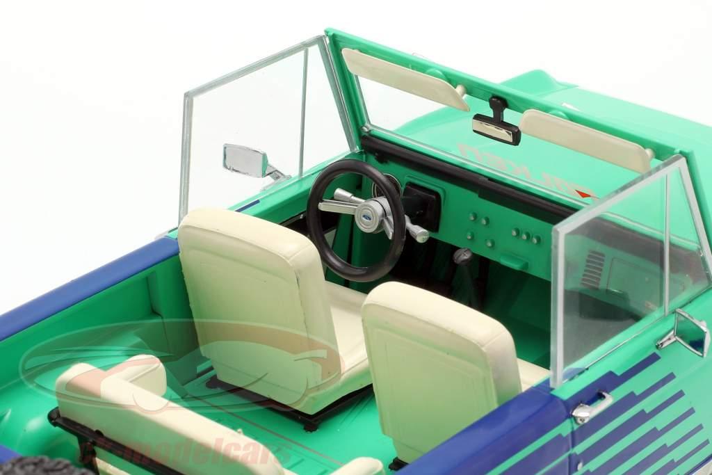 Ford Bronco Falken Tires Bouwjaar 1976 groen / blauw / wit 1:18 Greenlight