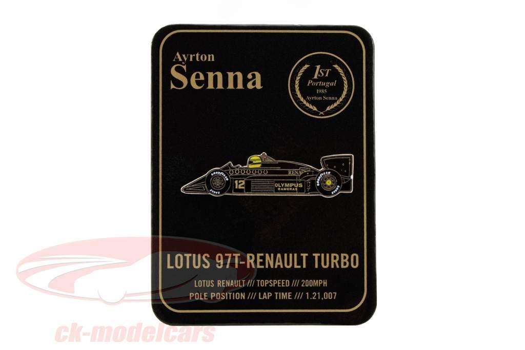 Ayrton Senna botones primero victoria Portugal GP fórmula 1 1985 clásico equipo loto