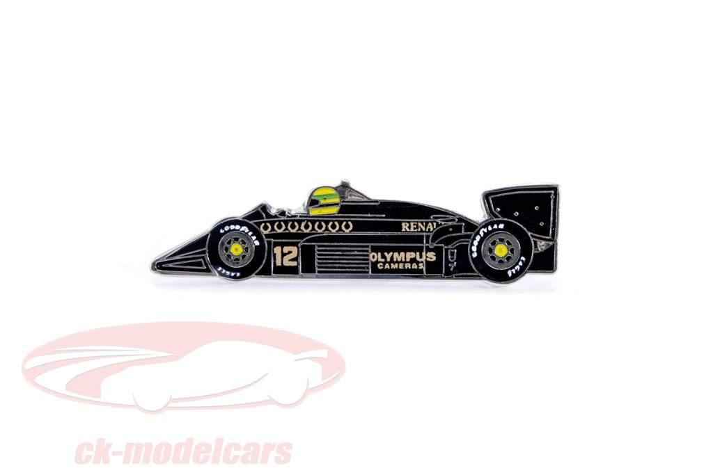 Ayrton Senna Buttons 1st Victory Portugal GP formula 1 1985 Classic team lotus