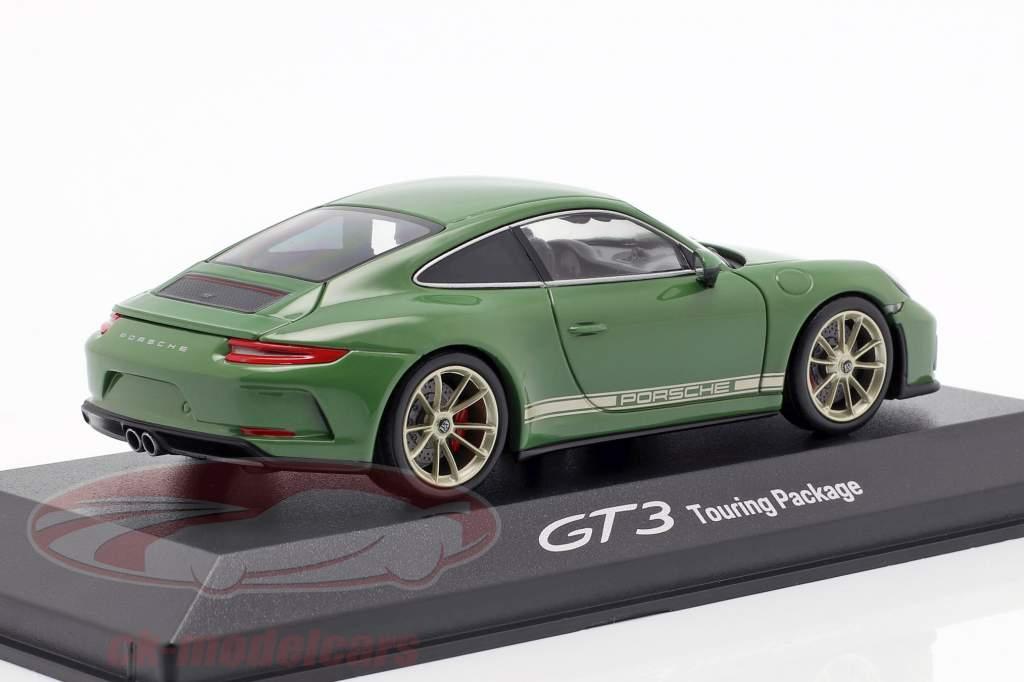 Porsche 911 (991 II) GT3 Touring Package fabrik 1 auratium grøn 1:43 Minichamps