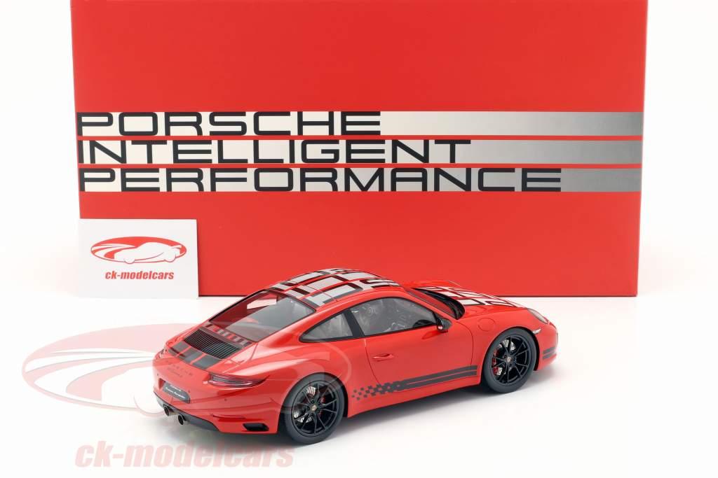 Porsche 911 (991) Carrera S Endurance Racing Edition 2016 red with showcase 1:18 Spark