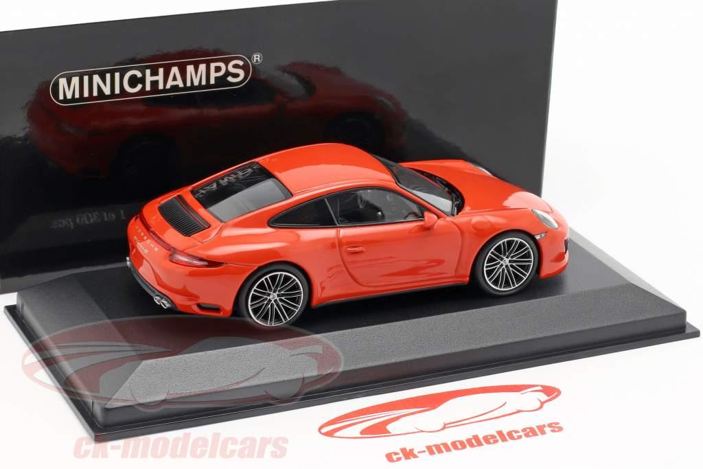 Porsche 911 (991 II) Carrera 4S Baujahr 2016 lava orange 1:43 Minichamps