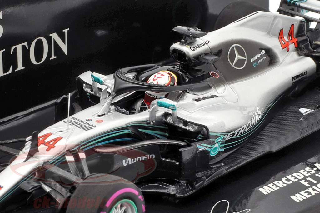 L. Hamilton Mercedes-AMG F1 W09 #44 campeón del mundo México GP F1 2018 1:43 Minichamps