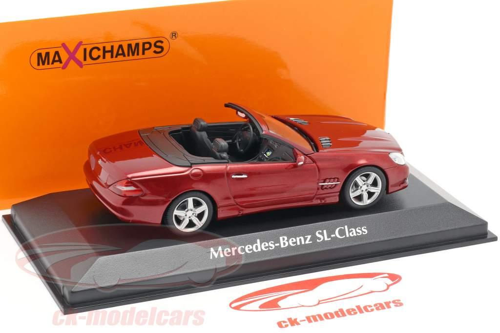Mercedes-Benz SL-Class (R230) year 2008 red metallic 1:43 Minichamps