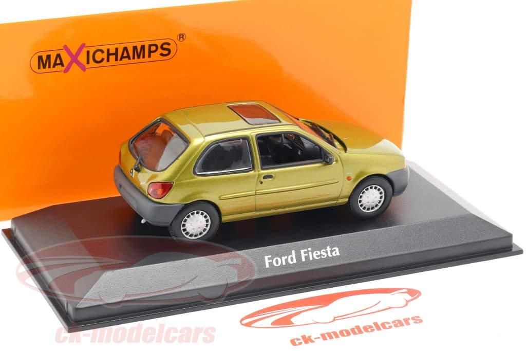 Ford Fiesta ano de construção 1995 ouro metálico 1:43 Minichamps