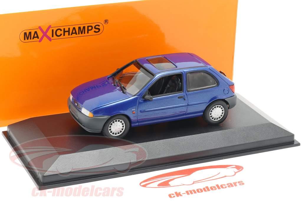 Ford Fiesta ano de construção 1995 azul metálico 1:43 Minichamps