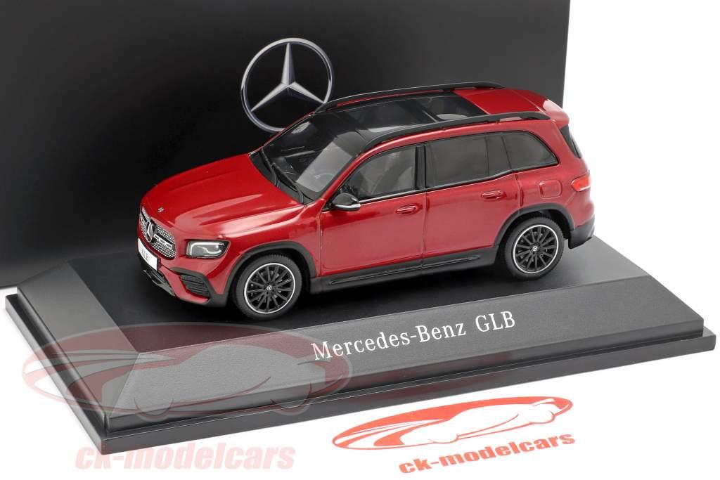 Mercedes-Benz GLB (X247) ano de construção 2019 designo patagonia vermelho bright 1:43 Spark