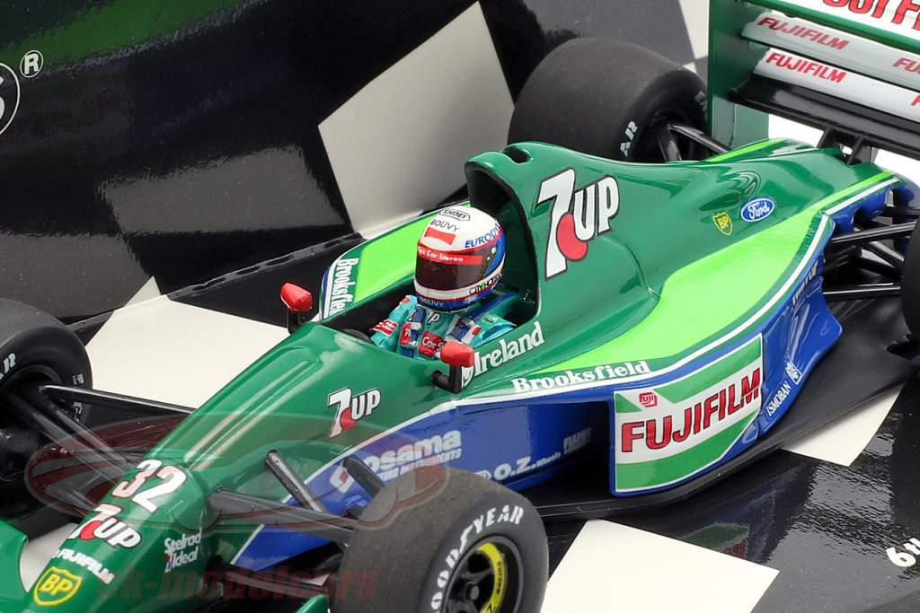 Bertrand Gachot Jordan 191 #32 6th British GP formula 1 1991 1:43 Minichamps