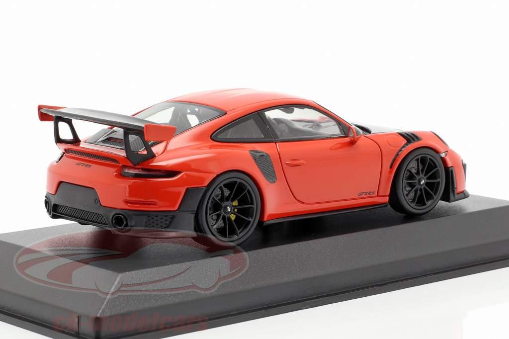 Porsche 911 (991 II) GT2 RS año de construcción 2018 lava naranja 1:43 Minichamps