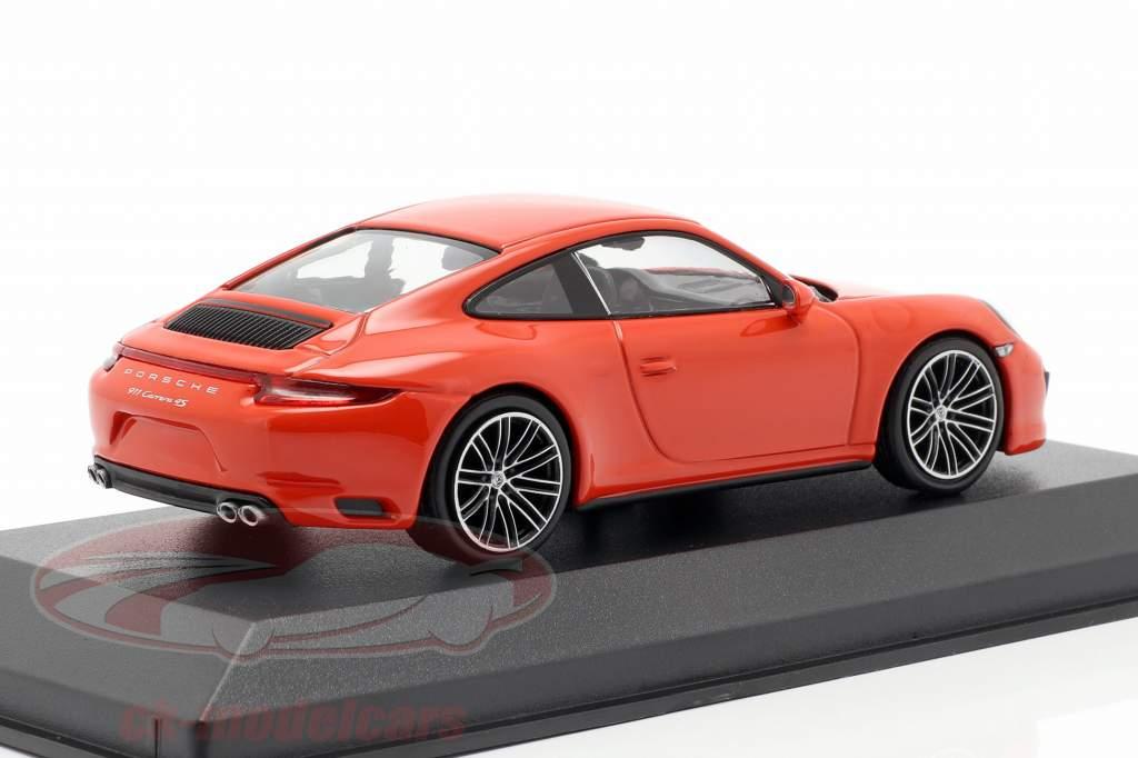 Porsche 911 (991 II) Carrera 4S Opførselsår 2016 lava appelsin 1:43 Minichamps