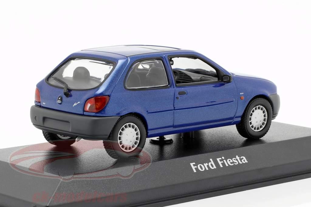Ford Fiesta année de construction 1995 bleu métallique 1:43 Minichamps
