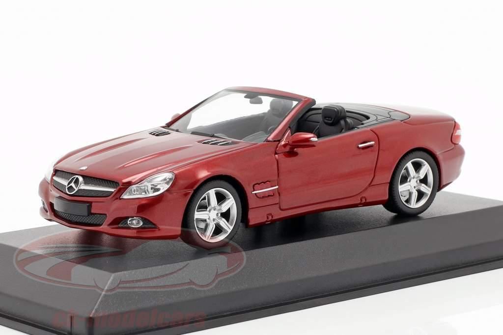 Mercedes-Benz SL-Klasse (R230) Bouwjaar 2008 rood metalen 1:43 Minichamps