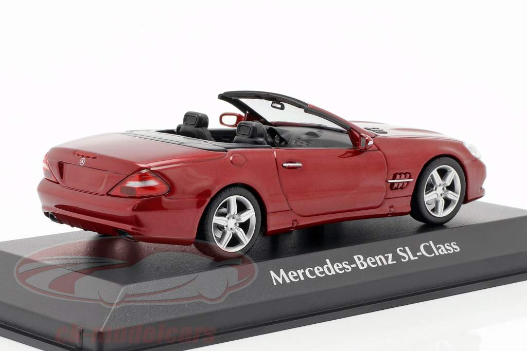 Mercedes-Benz Clase SL (R230) año de construcción 2008 rojo metálico 1:43 Minichamps