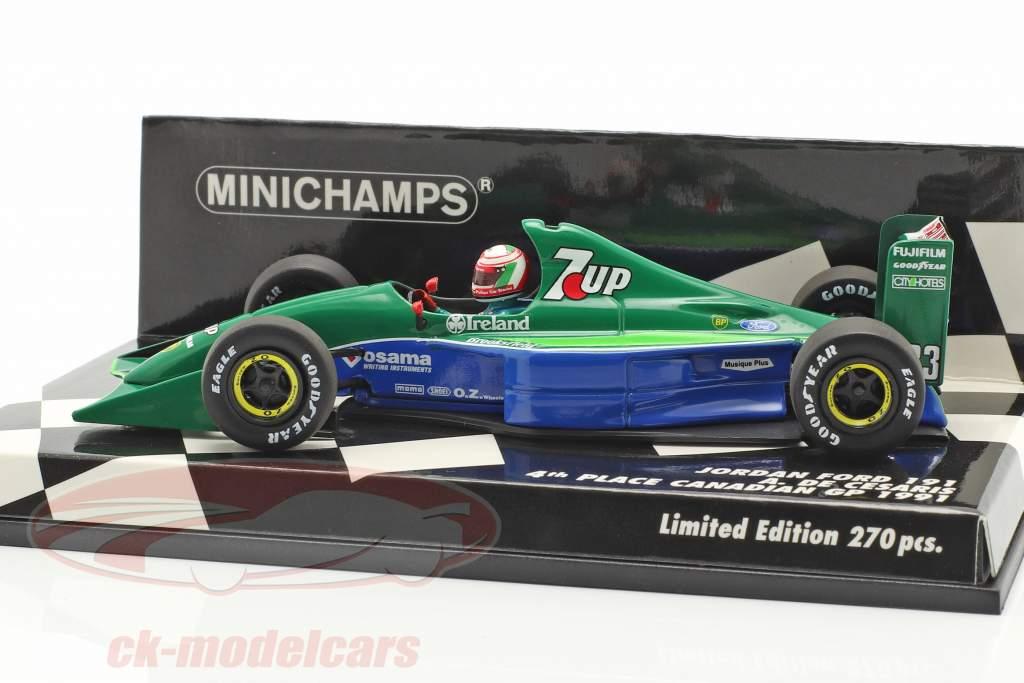 Andrea de Cesaris Jordan 191 #33 4th Canadian GP F1 1991 1:43 Minichamps