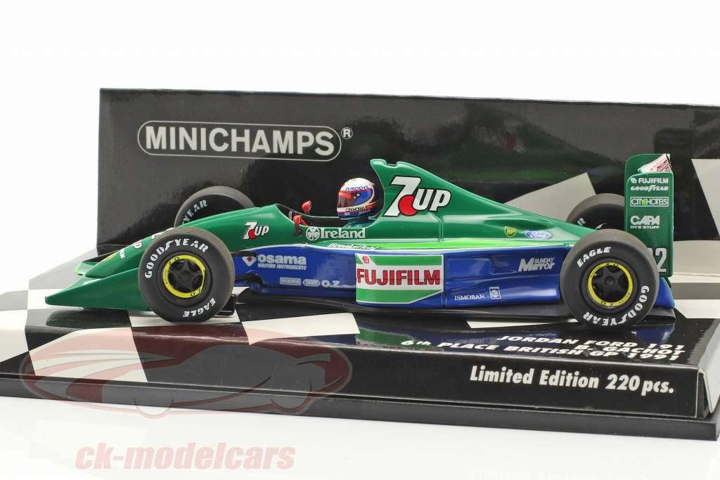 Bertrand Gachot Jordan 191 #32 6e Brits GP formule 1 1991 1:43 Minichamps
