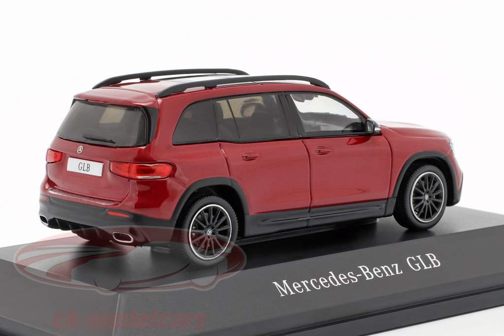 Mercedes-Benz GLB (X247) Opførselsår 2019 designo patagonia rød bright 1:43 Spark