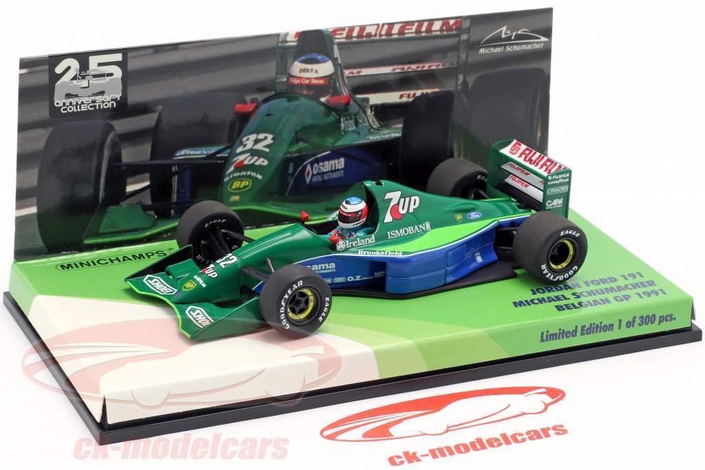 M. Schumacher Jordan J191 #32 free Practice Belgien GP F1 1991 1:43 Minichamps