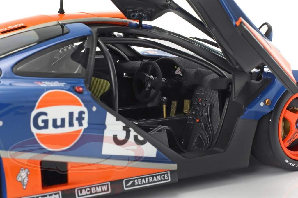 McLaren F1 GTR Gulf Racing #33 9th 24h LeMans 1996 1:18 Minichamps