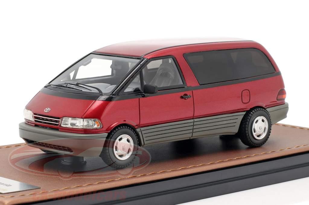 Toyota Previa Opførselsår 1994 rød 1:43 GLM