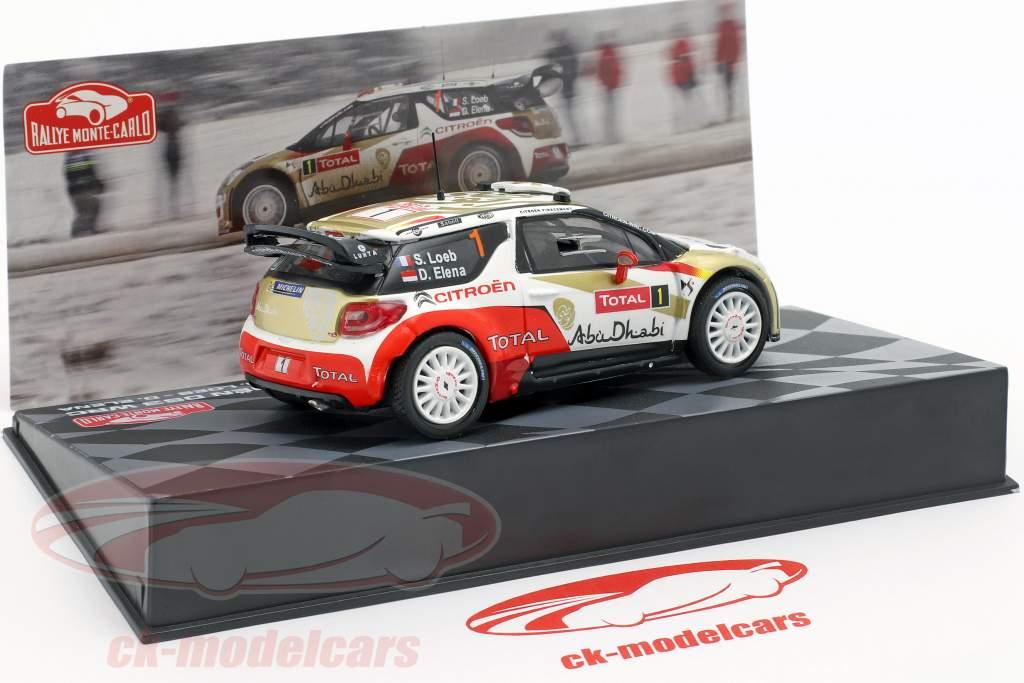 Citroen DS3 WRC #1 Vinder Rallye Monte Carlo 2013 Loeb, Elena 1:43 Altaya