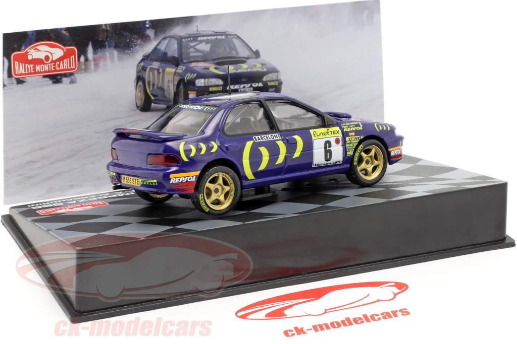 Subaru Impreza 555 #6 8. Rallye Monte Carlo 1995 Liatti, Alessandrini 1:43 Altaya