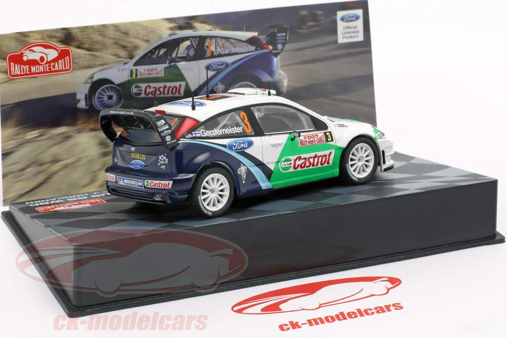 Ford Focus RS WRC #3 2e Rallye Monte Carlo 2005 Gardemeister, Honkanen 1:43 Altaya