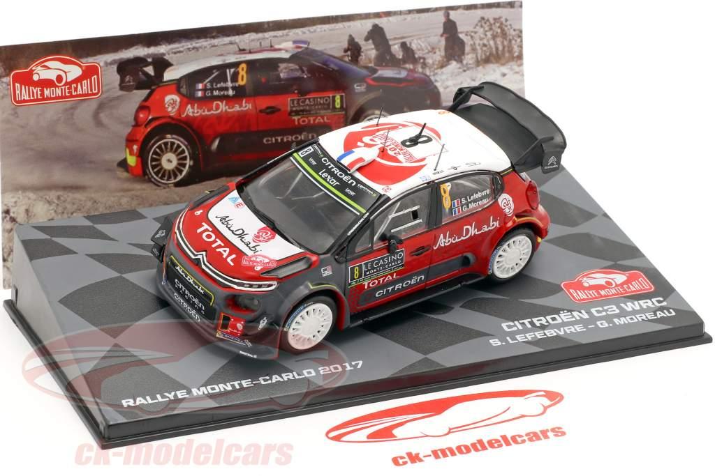 Citroen C3 WRC #8 Rallye Monte Carlo 2017 Lefebvre, Moreau 1:43 Altaya