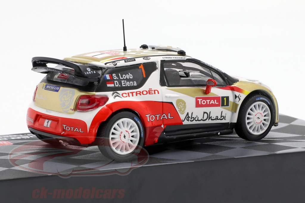Citroen DS3 WRC #1 Winner Rallye Monte Carlo 2013 Loeb, Elena 1:43 Altaya