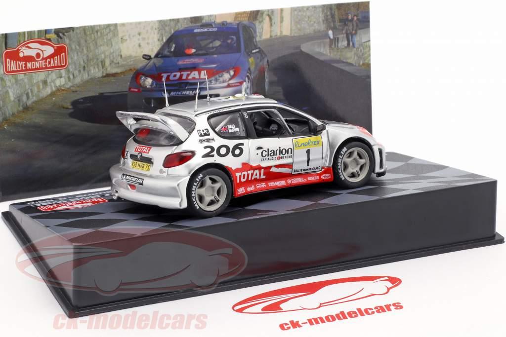 Peugeot 206 WRC #1 Rallye Monte Carlo 2002 Burns, Reid 1:43 Altaya