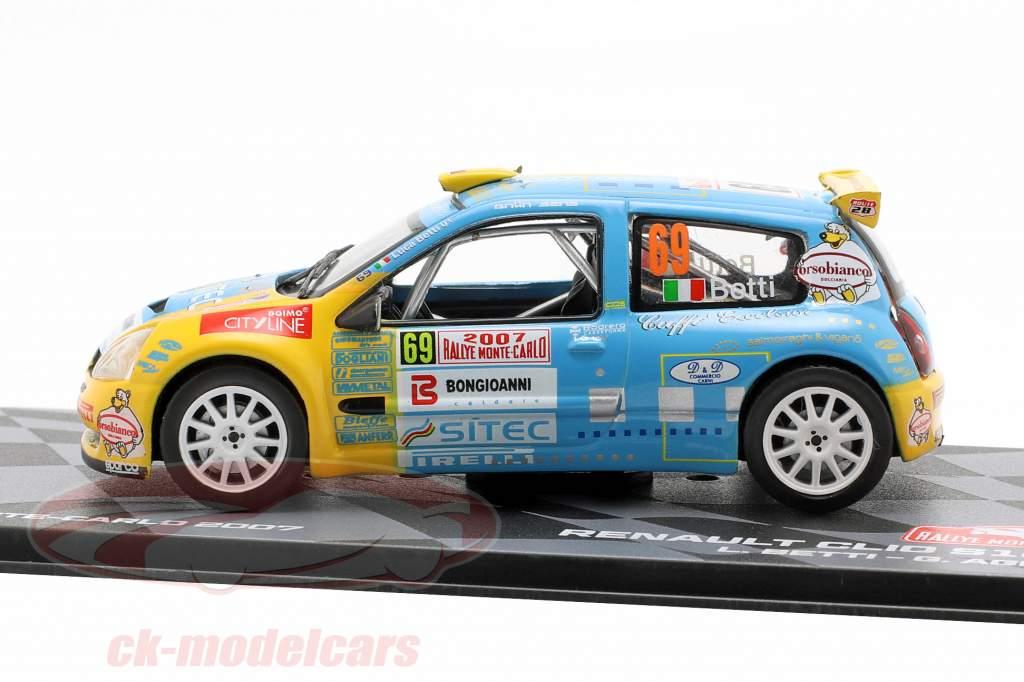 Renault Clio S1600 #69 Rallye Monte Carlo 2007 Betti, Agnese 1:43 Altaya