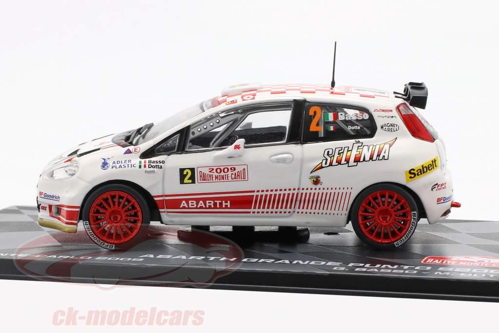 Abarth Grande Punto S2000 #2 quinto Rallye Monte Carlo 2009 Basso, Dotta 1:43 Altaya