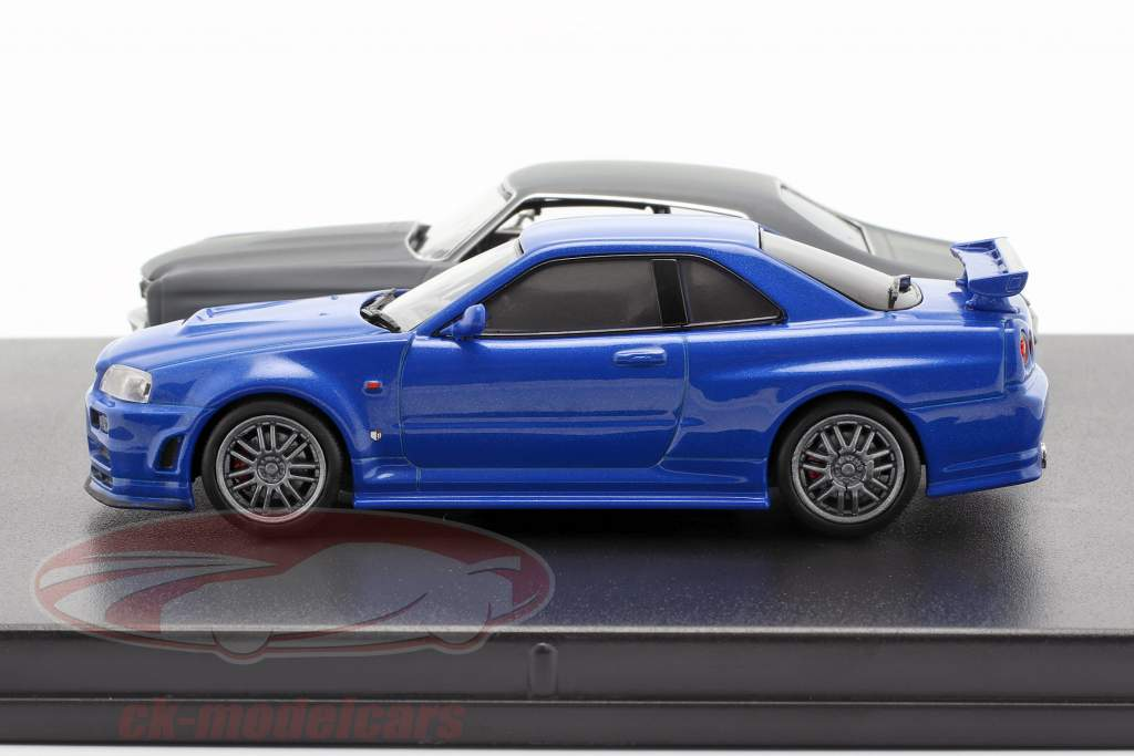 2-Car set Chevrolet Chevelle SS e Nissan Skyline GT-R Fast and Furious 1:43 Greenlight
