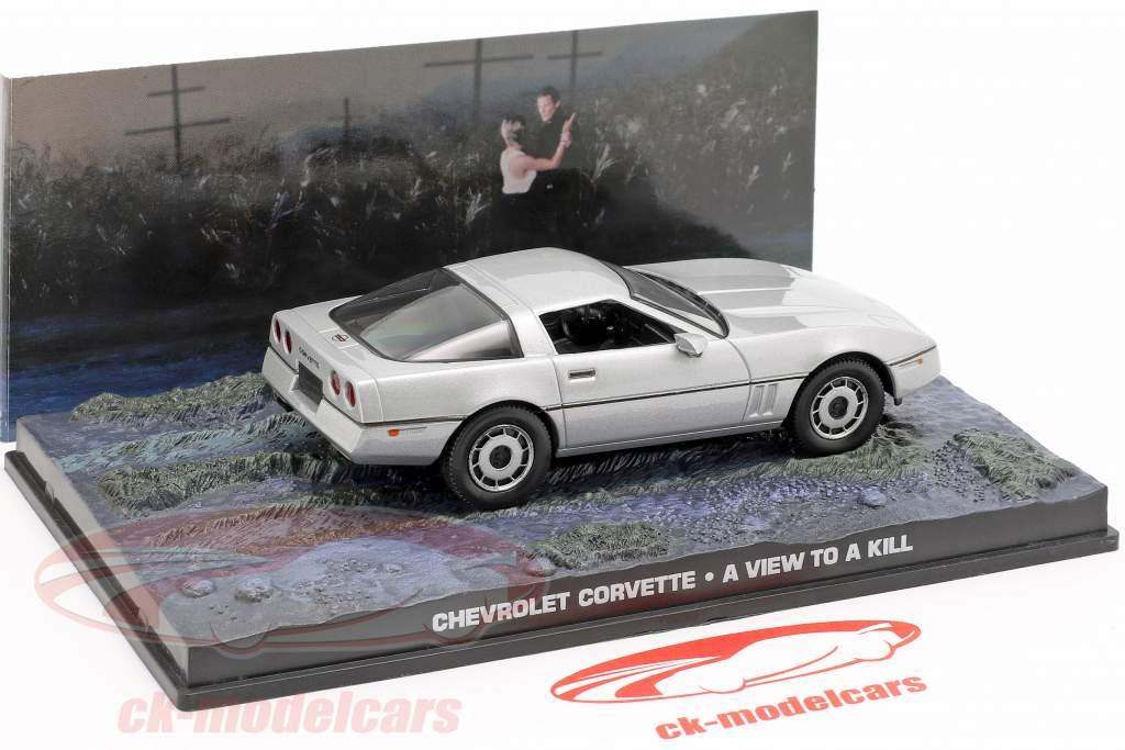 Chevrolet Corvette Car James Bond film The Living Daylights silver 1:43 Ixo