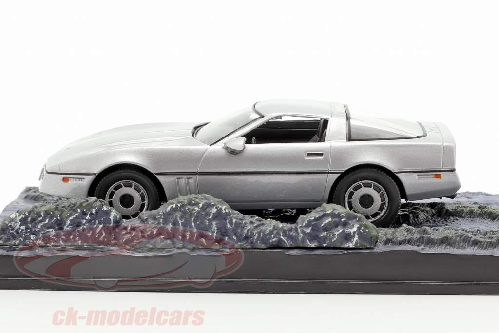 Chevrolet Corvette coches James película de James Bond The Living Daylights plata 1:43 Ixo