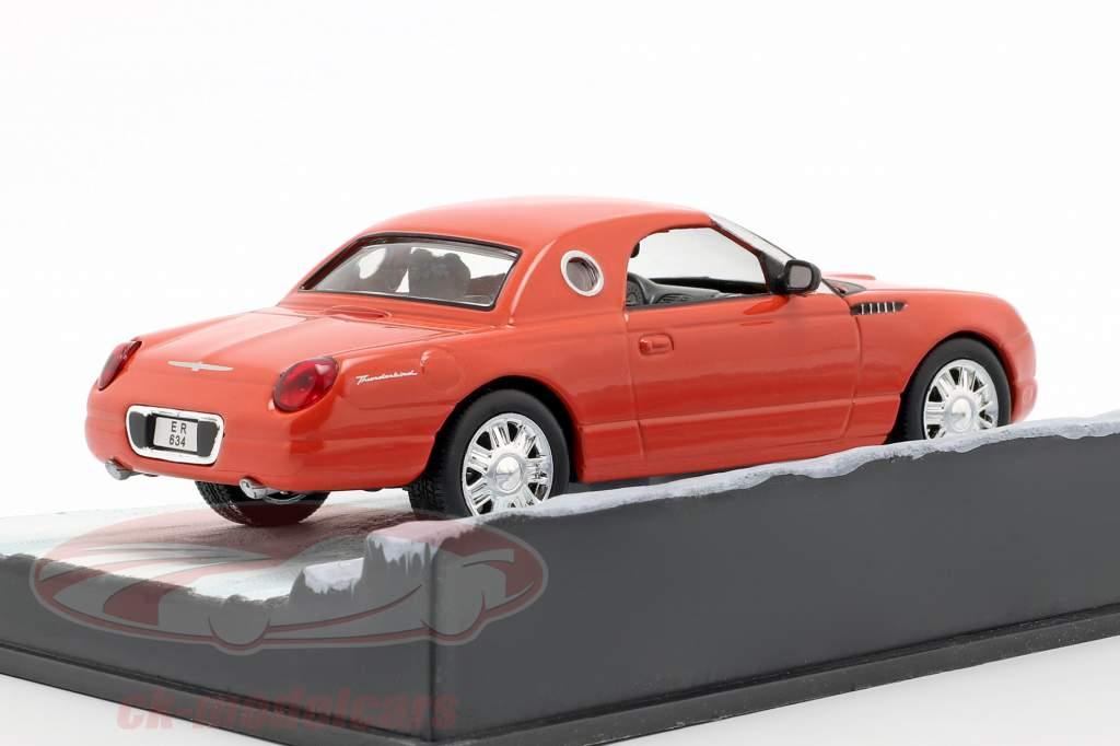 Ford Thunderbird auto James film di James Bond Die Another Day arancione 1:43 Ixo
