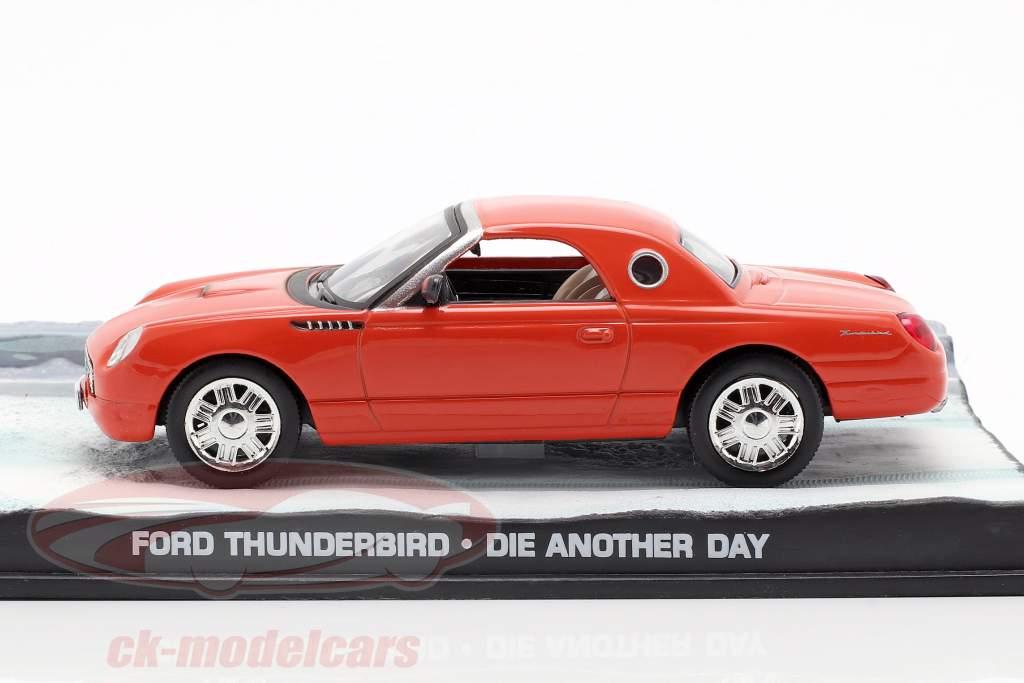 Gué Thunderbird James Bond Film Voiture Mourir à un autre Jour orange 1:43 Ixo