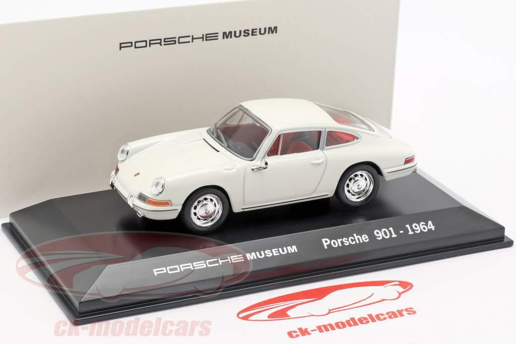 Porsche 901 Year 1964 white Porsche Museum Edition 1:43 Welly
