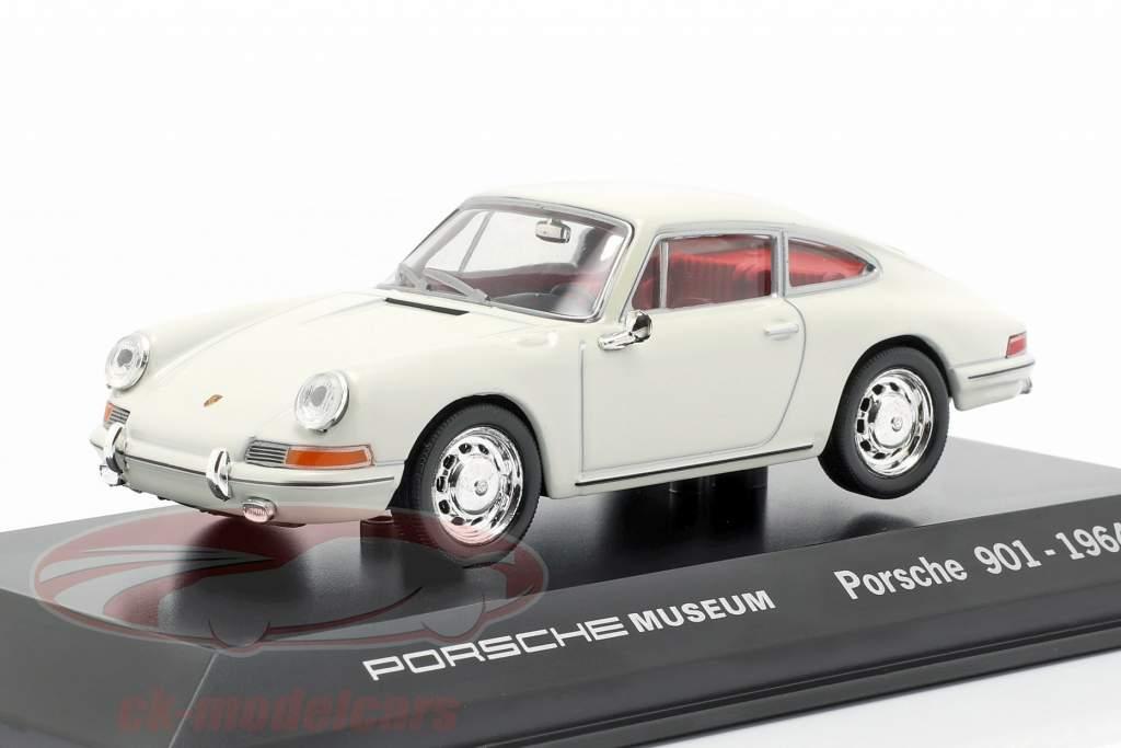 Porsche 901 Anno 1964 bianco Porsche Museo Edizione 1:43 Welly