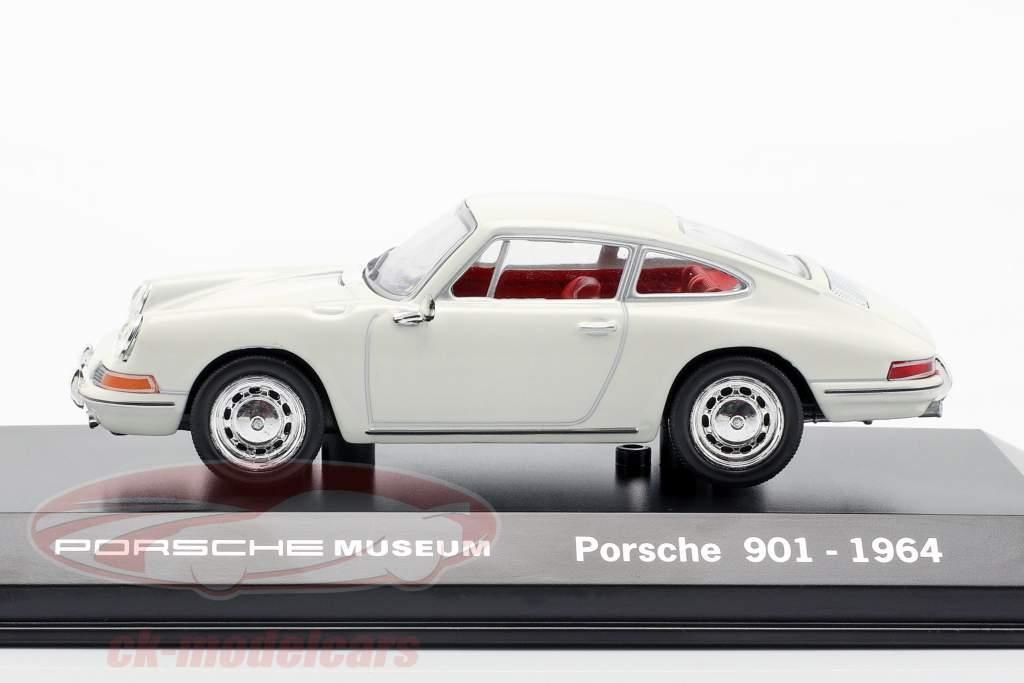 Porsche 901 År 1964 hvid Porsche Museum Edition 1:43 Welly