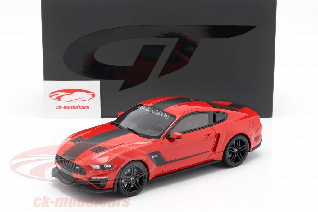 Roush Stage 3 Mustang year 2019 red / black 1:18 GT-SPIRIT