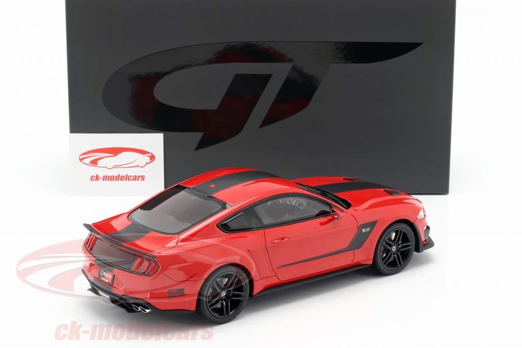 Roush Stage 3 Mustang Opførselsår 2019 rød / sort 1:18 GT-SPIRIT