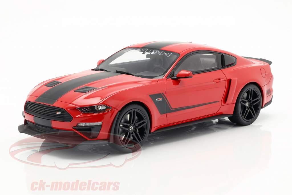 Roush Stage 3 Mustang Bouwjaar 2019 rood / zwart 1:18 GT-SPIRIT