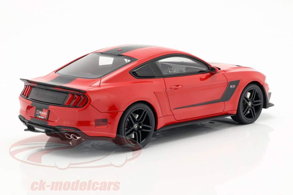 Roush Stage 3 Mustang année de construction 2019 rouge / noir 1:18 GT-SPIRIT