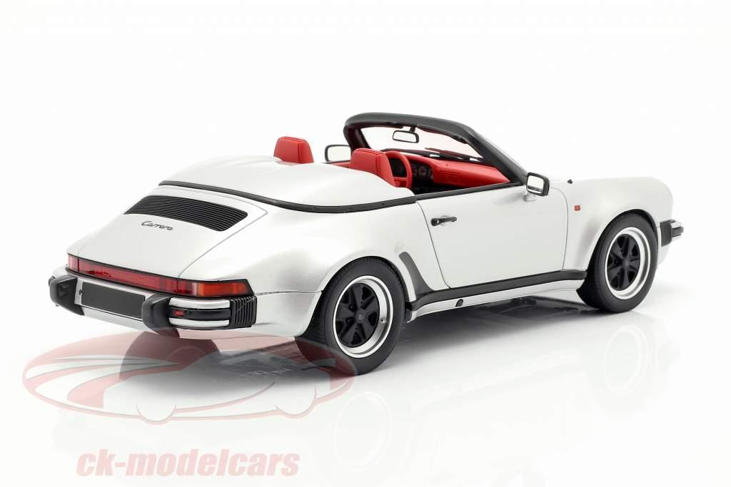 Porsche 911 Carrera 3.2 Speedster Bouwjaar 1987 zilver 1:18 GT-SPIRIT