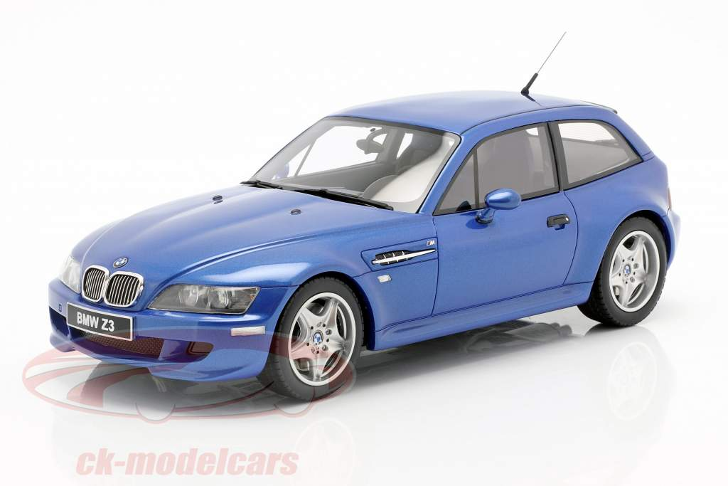 BMW Z3 M Coupe 3.2 Bouwjaar 1999 estoril blauw 1:18 OttOmobile