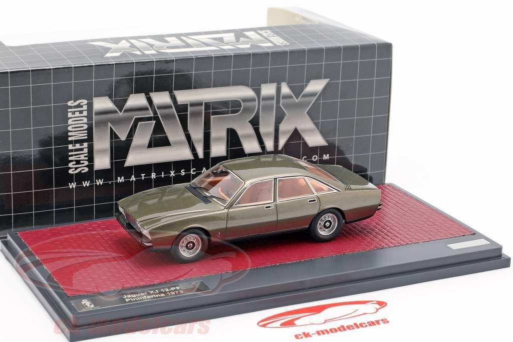 Jaguar XJ 12-PF Pininfarina año de construcción 1973 bronce metálico 1:43 Matrix