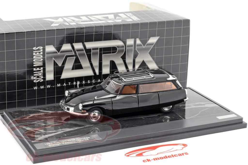 Citroen ID19 Cortege Slough Factory Hearse año de construcción 1962 negro 1:43 Matrix